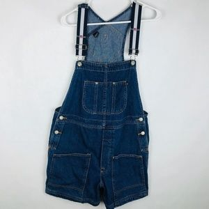 Vintage Polo Blue Jean Shorts Overalls